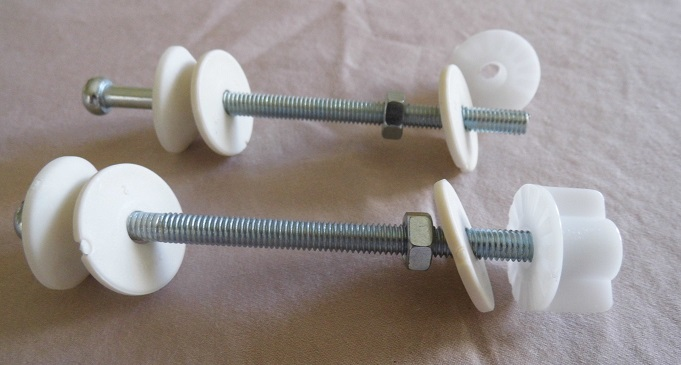 replacement toilet seat hinge bolts screws nuts washers
